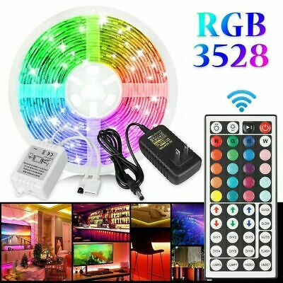 $11.14 • Buy 16.4FT Flexible Strip Light 3528 RGB LED SMD Remote Fairy Light Room TV Party