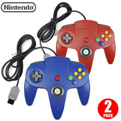 $ CDN29.34 • Buy 2Pcs N64 Controller Joystick Gamepad Long Wired For Nintendo 64 Console Games~~~