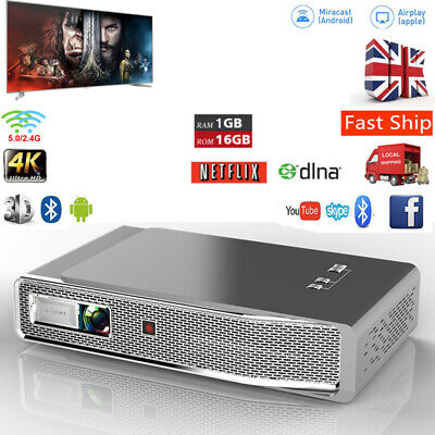 8500 Lumens DLP Wifi 3D 4K Home Theater Projector HD 1080P Cinema HDMI/USB/RJ45 • 394.55£