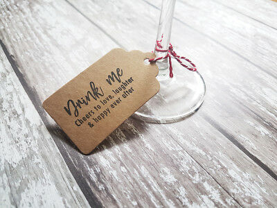 £7 • Buy Drink Me Wedding Favours Stamp, Party Drink Favour, Drink Tags Labels