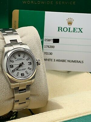 $ CDN6374.40 • Buy BRAND NEW Rolex 176200 Oyster Perpetual White Dial Stainless Box Papers STICKERS