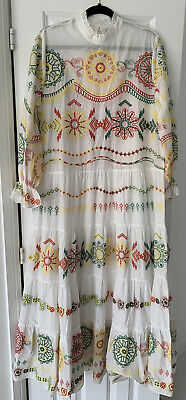 $41.14 • Buy New Zara Maxi White Embroidered Dress Size Xxl