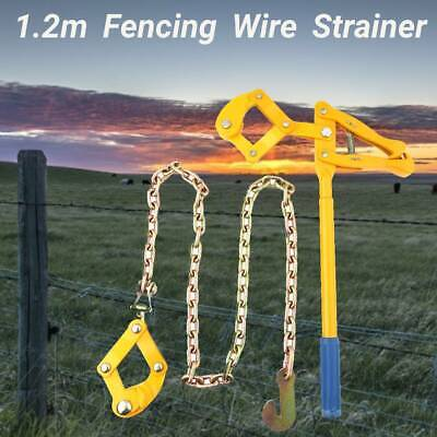 £24.26 • Buy Farm Fence Strainer Fencing Repair Wire Pulling Tensioner 1.2M Chain Steel