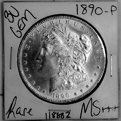 $4.25 • Buy 1890 GEM Morgan Silver Dollar #118882 BU MS+++ UNC Coin Free Shipping