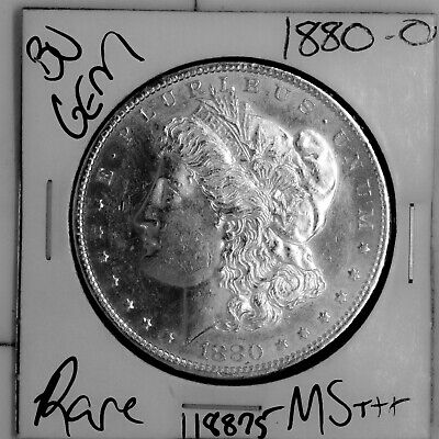 $12.50 • Buy 1880 O GEM Morgan Silver Dollar #118875 BU MS+++ UNC Coin Free Shipping