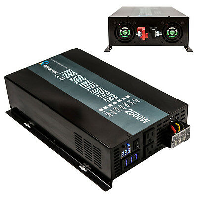 $ CDN292.93 • Buy 2500W DC To AC Power Pure Sine Wave Inverter 24V To 120V Solar System Off Grid