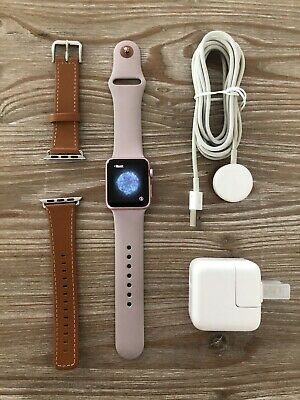 $ CDN107.50 • Buy Apple Watch Rose Gold 38mm With Accessories