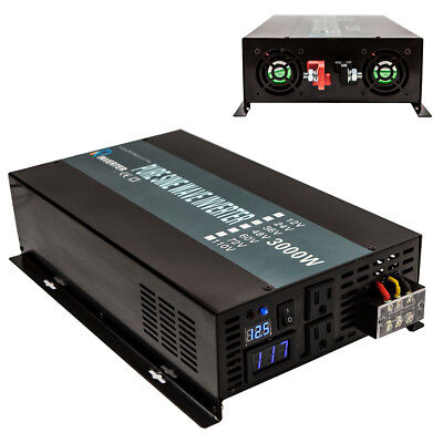 $ CDN290.21 • Buy Reliable Pure Sine Wave Power Inverter 2500w 3000w 3500w 4000w 12V 24V Converter