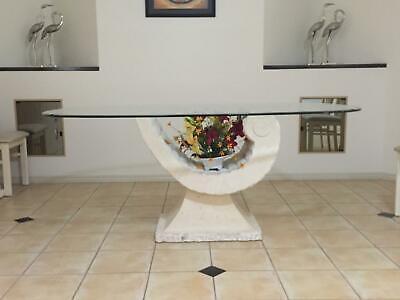 AU750 • Buy Dining Room Table, 6 Seater, Fossil Stone Base