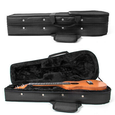 AU45.99 • Buy 26 Inch Ukulele Carrying Case Hard Bag Black For Tenor Ukelele With Capo Picks