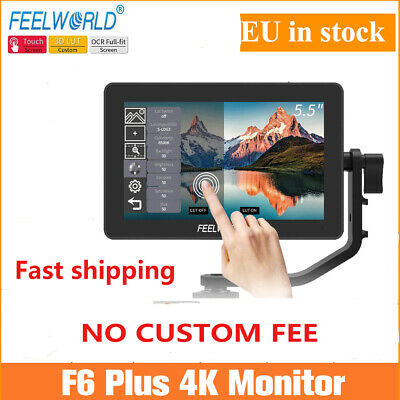 AU246.01 • Buy Feelworld F6 Plus 5.5 Inch 3D Lut Touch Screen Camera Monitor For DSLR Camera EU