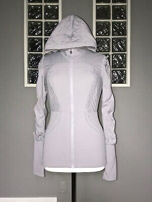 $ CDN70.40 • Buy Lululemon Dance Studio Jacket 8 Light Gray Reversible Swift Vguc
