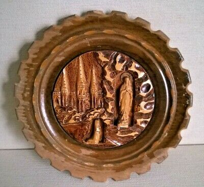 Catholic Souvenir Of Our Lady Of Lourdes The Virgin Mary And Bernadette   A1037 • 6.95£