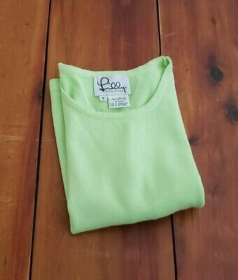 $15 • Buy Lilly Pulitzer  Lime Green Sleeveless Cotton Top  Size Small White & Black Label