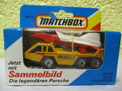 Plane Transporter Truck By Matchbox (German) No MB-65 1:76 Scale Still Sealed • 2.20£
