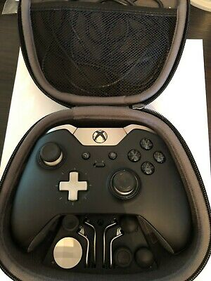 $121 • Buy Xbox One Elite Controller Series 1 Black With Box And All Accessories