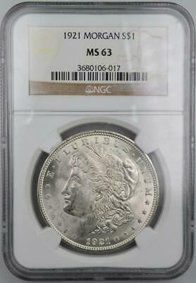 $23.50 • Buy 1921 Morgan Silver Dollar NGC MS 63 Blast White