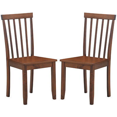 $109.59 • Buy 2-Set Dining Chair Kitchen Dining Room Side Chair Spindle Back Solid Wooden Legs