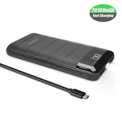 AU36.99 • Buy QI Portable Charger Power Bank 300000mAh LCD External Battery Pack For Iphone AU
