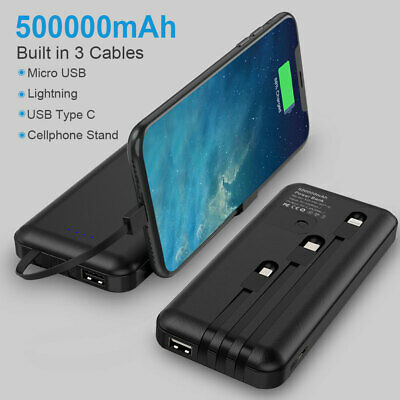 AU42.99 • Buy QI Portable Charger Power Bank 500000mAh LCD External Battery Pack For Iphone AU