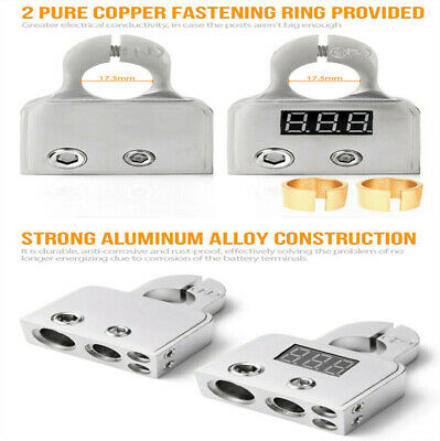 AU39.80 • Buy 2X New Digital Car Battery Terminal Connectors Voltmeter 0/4/8 Gauge Power Post