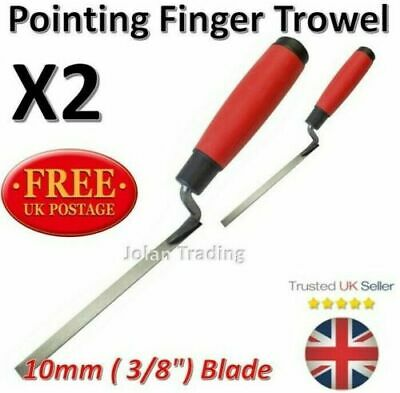 2 X Pointing Finger Trowel Mortar Lime Jointing Brickwork Walls Cement 1937 • 7.16£