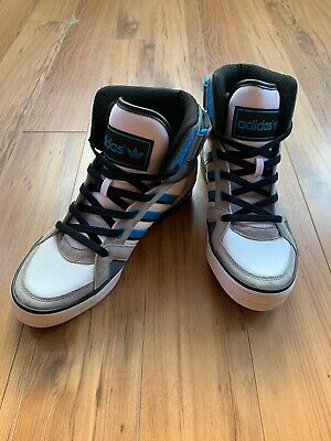 $ CDN37.22 • Buy Blue And White Adidas High Top Sneakers