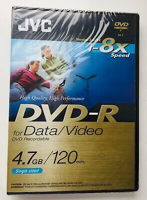 £8.99 • Buy JVC Recordable New/Sealed DVD+R(2 HOURS) 1-8X Data/Video Single Sided New