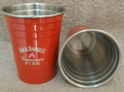 Rare Official Jack Daniels Tennessee Fire Aluminum Cup Brand New  • 9.99£
