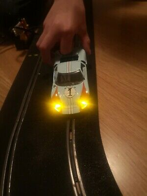 Scalextric/slot Car Ford GT 40 Gulf No.1 Beautiful Car With Working Lights • 24.99£