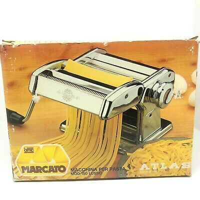 $69.99 • Buy MARCATO Atlas No 150 Pasta Noodle Maker Machine Vintage With Box Made In Italy