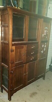AU180 • Buy Antique Kitchen Hutch Storage