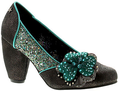 Joe Browns Couture Sassy Couture Womens Ladies Heels Court Shoes Pewter/teal UK • 28£