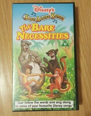 Disney - Sing Along Songs - The Bare Necessities - Vhs Video • 6.49£