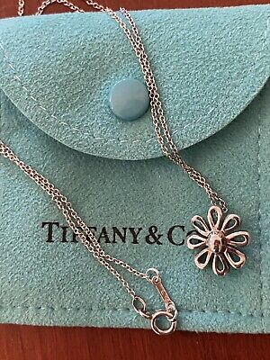 $75 • Buy Tiffany & Co. Paloma Picasso Sterling Silver 925 Daisy Flower Necklace With Box