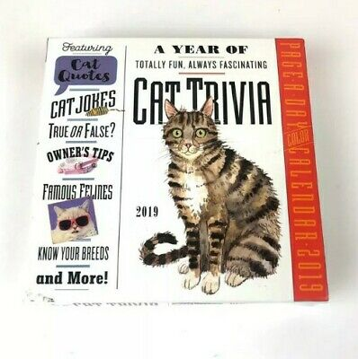 $15.19 • Buy Cat Trivia Page-a-day Calendar 2019