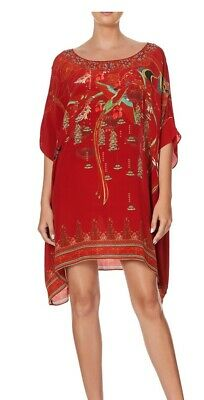 AU299 • Buy Camilla FORBIDDEN FRUIT Short Round Neck Kaftan BNWT RRP $549 FREE POST