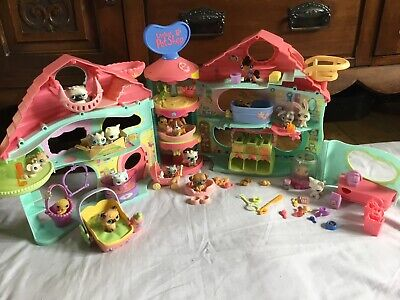 Littlest Pet Shop House Lps Playset Lots Of Pets And Accessories • 22£