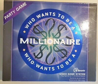 £4.61 • Buy Senario Who Wants To Be A Millionaire Plug Into TV Video Game System. Party Game