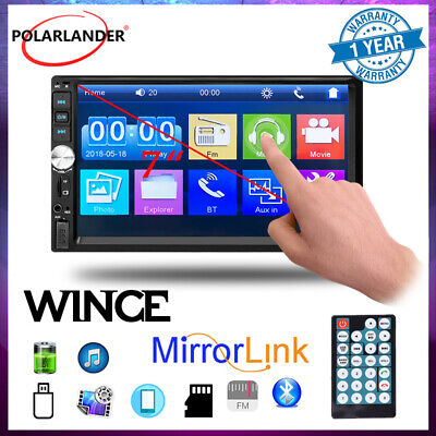 AU53.99 • Buy 2 Din Car Radio 7  Stereo Bluetooth FM Head Unit MP5 Player Touch Screen Mirror