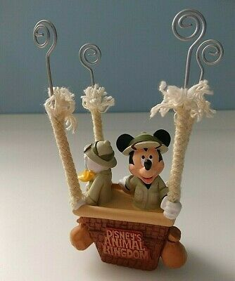 Disney Animal Kingdom Mickey And Donald Photo/note Holder Hot Air Balloon Basket • 16£