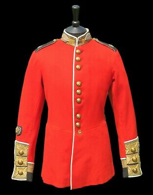 WW1 Scots Guards RQMS Warrant Officer's Tunic -  W/D Stamps, Wounded At Somme • 475£