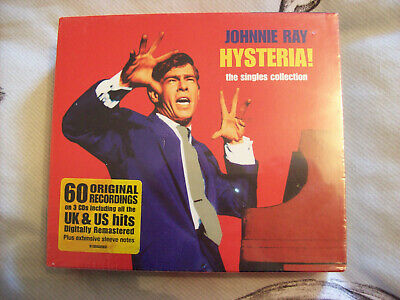 JOHNNIE RAY HYSTERIA! THE SINGLES COLLECTION 3CDs NEW AND FACTORY SEALED • 2.15£