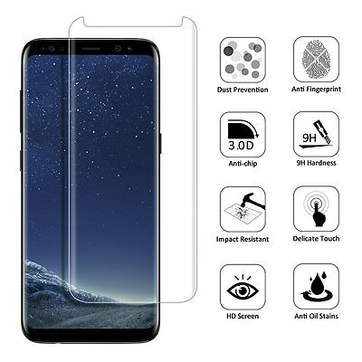 AU3.16 • Buy Case Friendly Tempered Glass Screen Protector Shield For Samsung S8 S8+ S7 Edge