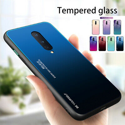 $ CDN2.91 • Buy For OnePlus 8 7 7T Pro 6T 6 Tempered Glass Shockproof Hybrid Gradient Case Cover