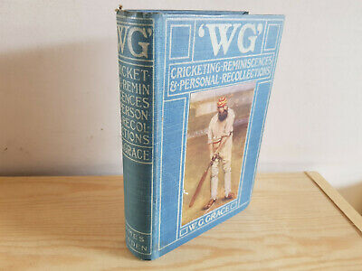 W. G. GRACE 'WG' Cricketing Reminiscences & Personal Recollections - 1899 1st Ed • 39.99£