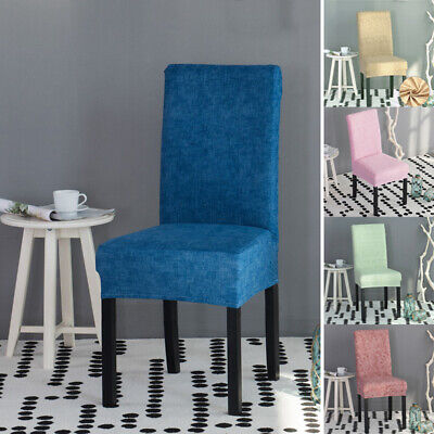 AU6.91 • Buy Chair Cover Stretch Slipcovers Dining Room Stool Seat Printed Removable Cover