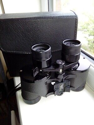 VINTAGE FALCON ZOOM 6 TO 18X POWER 35mm BINOCULARS FULLY COATED WITH CASE • 18£