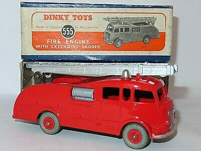 Dinky 555 Fire Engine With Ladder, Excellent Model With Very Good Original Box. • 49.99£