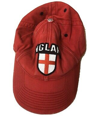 Boys Official ENGLAND 3 LIONS Red Baseball Cap Hat FREE POSTAGE • 1.99£